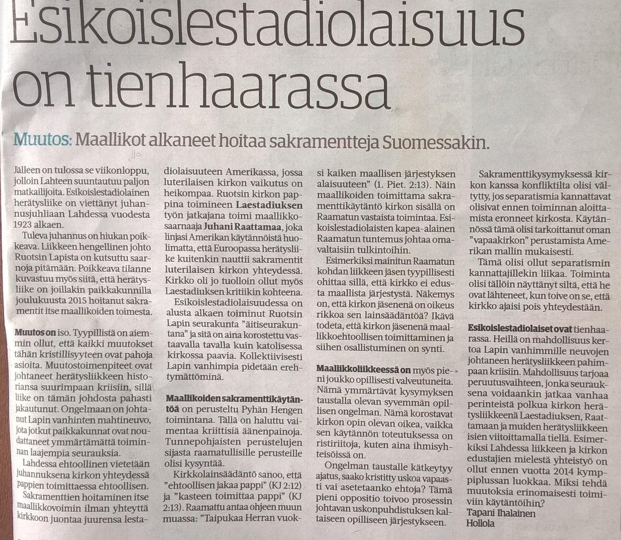 esikoislestadiolaiset suomi24 Hanko